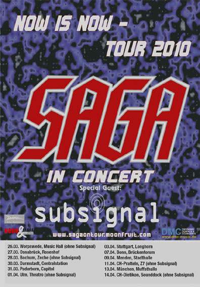 Saga + Subsignal on tour
